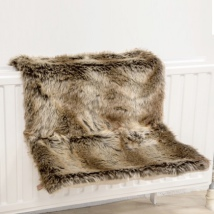Cat Radiator Warm and Fluffy Fur Relax Bed - Brown 40x30x25 cm