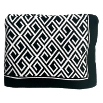 Antibes Thick Throw - Black/White 150x125cm