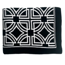 Genoa Thick Throw - Black/White 150x125cm