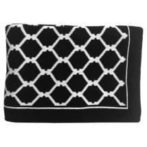 St Raphael Thick Throw - Black/White 150x125cm