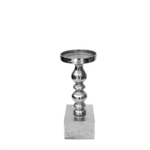 Candle Holder - Raw Alu Hight:31cm Base:11x11cm