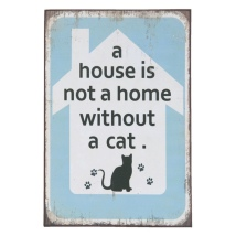 "Quote Board mdf ""A House is not a Home"" - Cat 30x20x1cm"