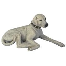 Statue Laying Labrador - Beige  L:32cm H:14cm