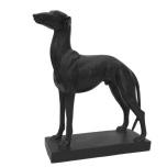 Statue Hound - Black  L:28 H:32 W:10cm