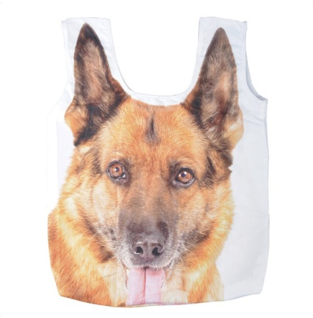 Shopping Bag Light Polyester German Shepherd - Beige 59x38,5x6cm