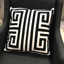 Paris Cushion - Black/Cream 45x45cm