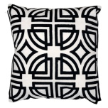 Menton Cushion - Black/White 45X45cm