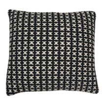 Alassio Cushion - Black/Cream 50x50cm