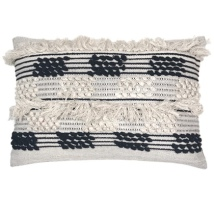 Gamka Cushion - Black/Beige 60x40cm
