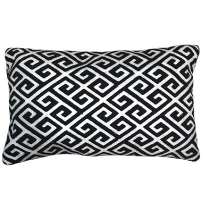 Antibes Cushion Black/White 50x30cm