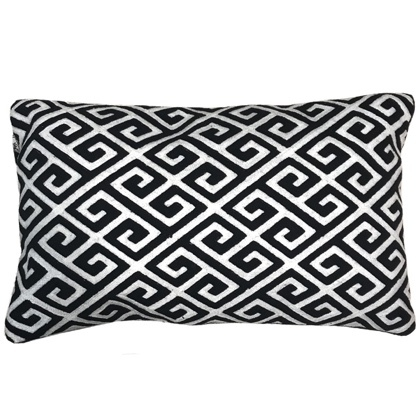 Antibes Cushion Black/White 50x30cm