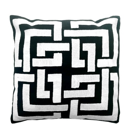 Epernay Cushion with Filling - Back/White 45x45cm