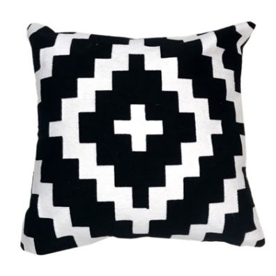 San Remo Cushion - Black/White 45x45cm