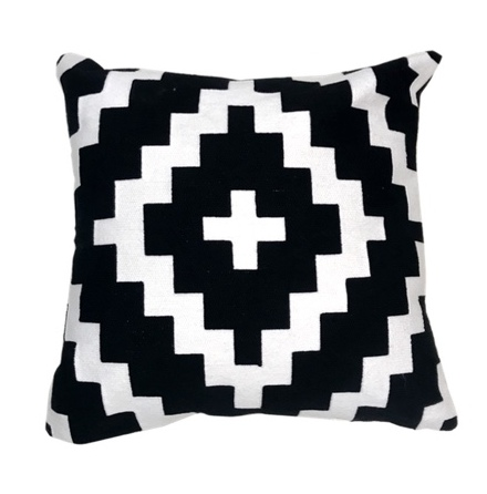 San Remo Cushion - Black/White 45x45cm