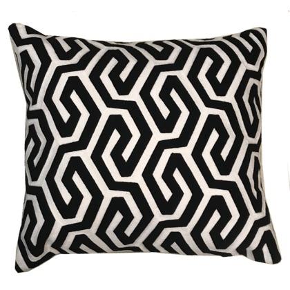 Bayonne Cushion - Black/White  45x45cm