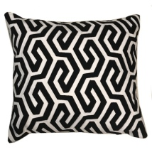 Bayonne Cushion - Black/White  45x45cm