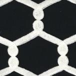 St Raphael Cushion - Black/White 50x30cm