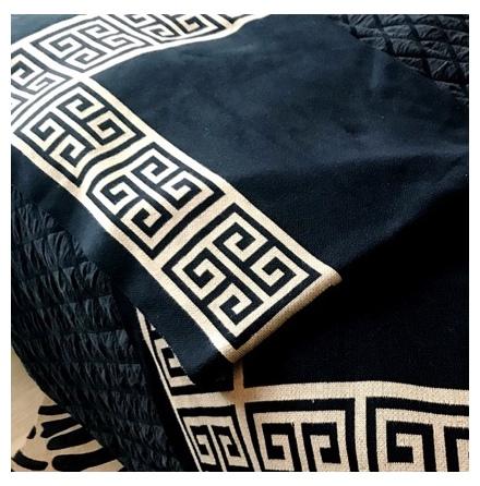 Monaco Thick Throw  - Black/Beige 150x125cm