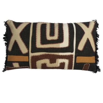 Kitale Hand Sewn Cushion - Brown/Beige/Black/Terracotta 60x35cm