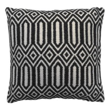 Kambuka Cotton Cushion - Charcoal/Off White - 45x45cm