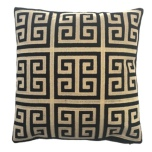 Monaco Cushion - Black/Beige 45x45cm