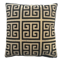 Monaco Cushion - Black/Beige 45x45cm