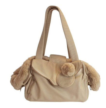 2in1 Luxury Pet Bag & Bed 55x30x20cm - Beige