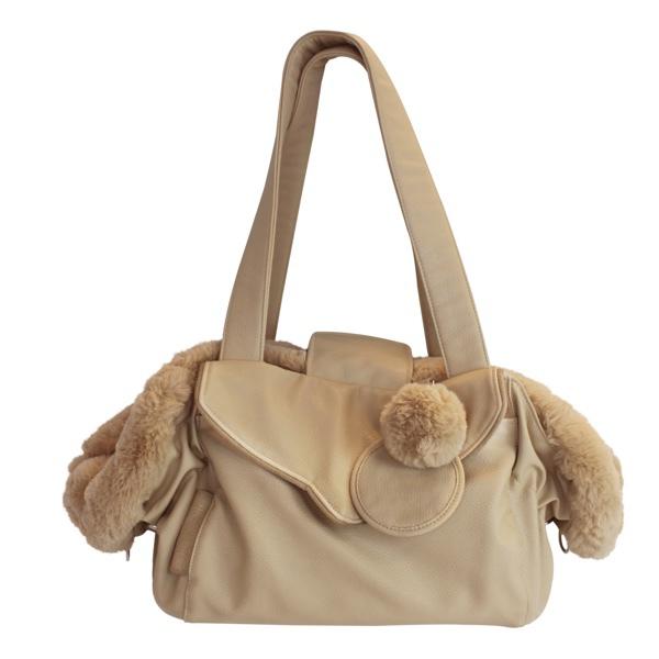 2in1 Luxury Pet Bag & Bed 55x30x20cm - Beige