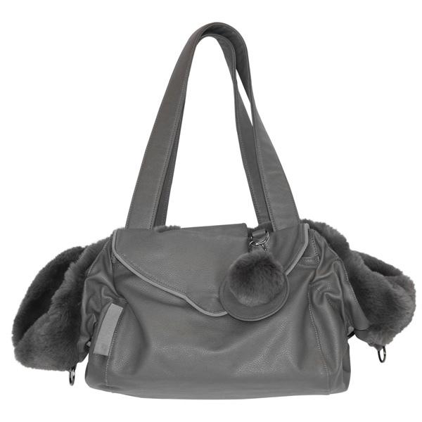 2in1 Luxury Pet Bag & Bed 55x30x20cm - Grey
