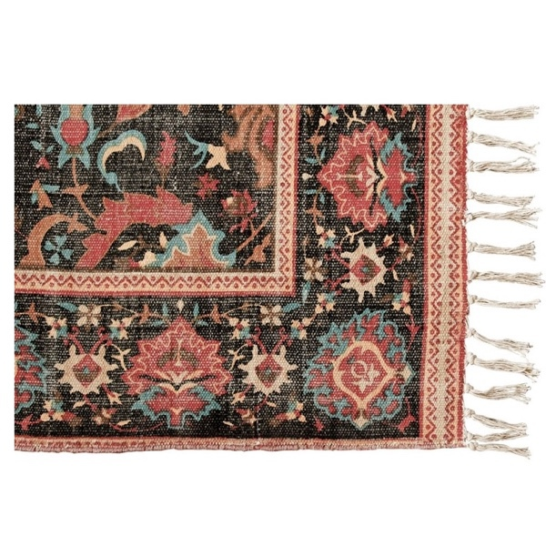 Carpet Ayar Canvas Jute - Red/Black  270x140cm