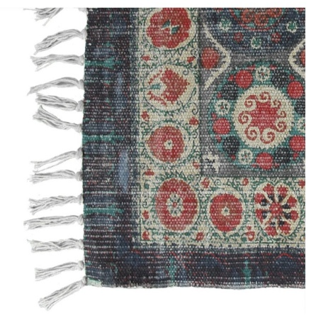 Carpet Binai Canvas Jute - Blue  270x140cm