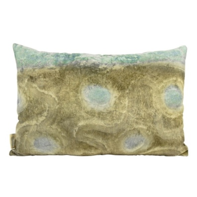 Elvira Velvet cushion - Green/Turq  60x40cm
