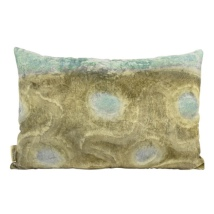 Elvira Velvet cushion - Green/Turq  60x40cm