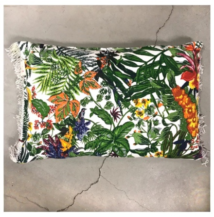Jungle Flowers Canvas Cushion - 40X60cm