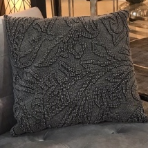 Stonewash Cushion Woven Patterns - Anthracite 50x50cm