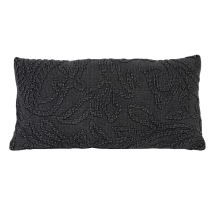 Stonewash Cushion Woven Patterns - Anthracite 60x50cm