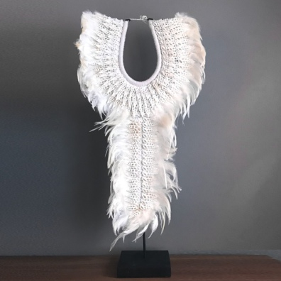 Shell Necklace on Stand and Hanging - White H:75cm Width:40cm