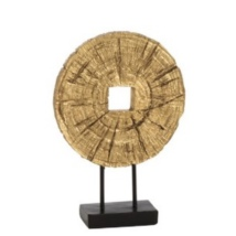 Round Wood Board - Gold S