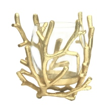 Glas Light and Branches Alu - Gold