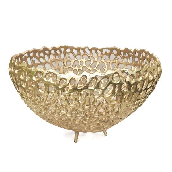 Shapes Bowl Alu - Gold H:19cm Diam:34cm