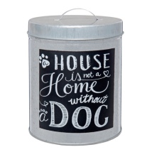 Tin Jar House & Dog - 17x12cm