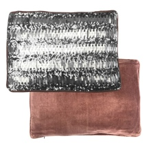 Velvet Cushion w Titan Sequins - Soft Dark Pink