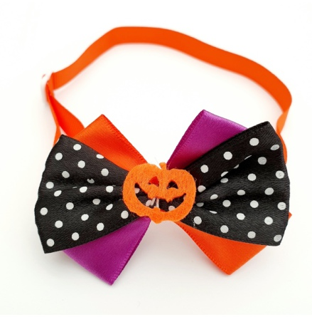 Halloween Bow Style 6 - Mixed Colors Size: aprox 7,5x5cm L:21-36cm