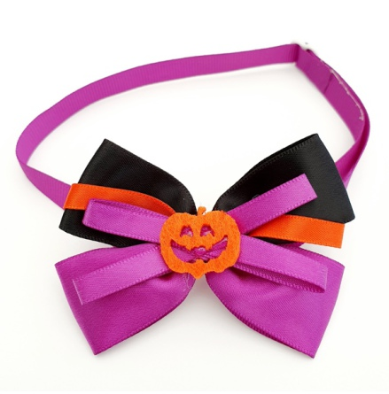 Halloween Bow Style 7 - Mixed Colors Size: aprox 7,5x5cm L:21-36cm