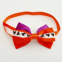 Halloween Bow Style 10 - Mixed Colors Size: aprox 7,5x5cm L:21-36cm