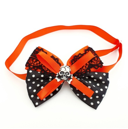 Halloween Bow Style 14 - Mixed Colors Size: aprox 7,5x5cm L:21-36cm