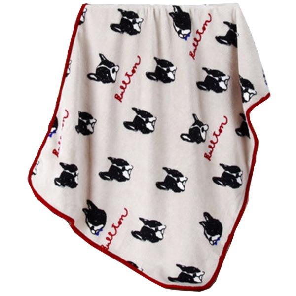 Cosy Pet Fleece Plaid Black Dogs - Beige 100x75cm