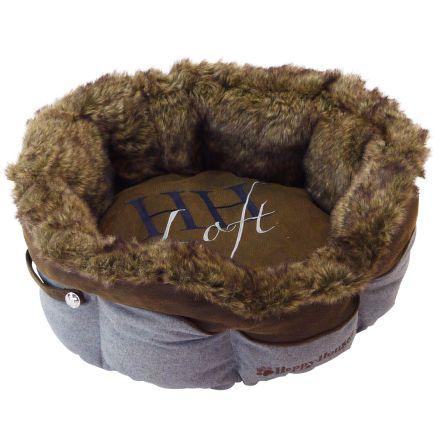 Lugano Brown/Grey fur Bed