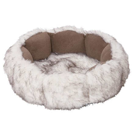 Basket fur - White 50x13cm