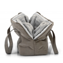 All Seasons Carrying Bag w Cosy Detachable Lining - Taupe 40x20x28cm